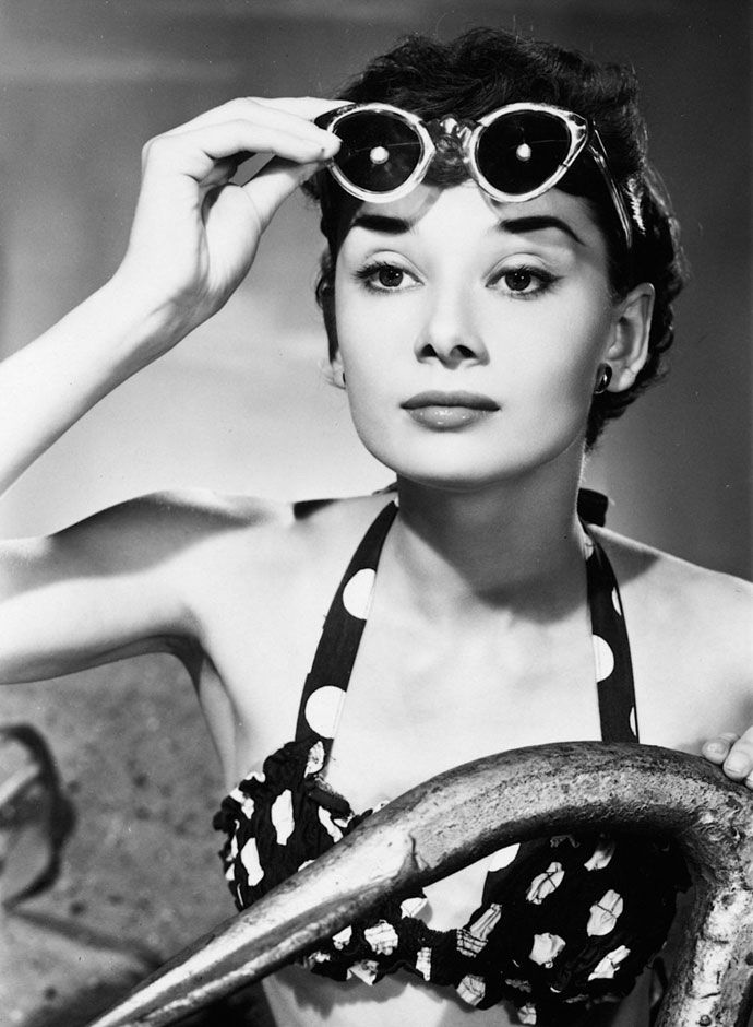 Audrey Hepburn- 20 iconic actresses in swimsuits: best vintage ...