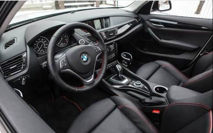 Bmw X1 Black Red Interior Bmw Interior Bmw Buick Verano