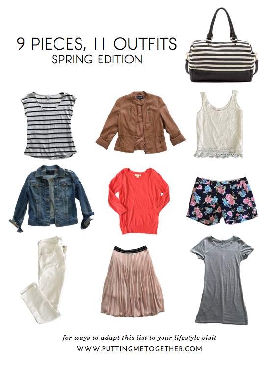 Putting Me Together: 9 Pieces, 11 Outfits - Spring Packing 2015