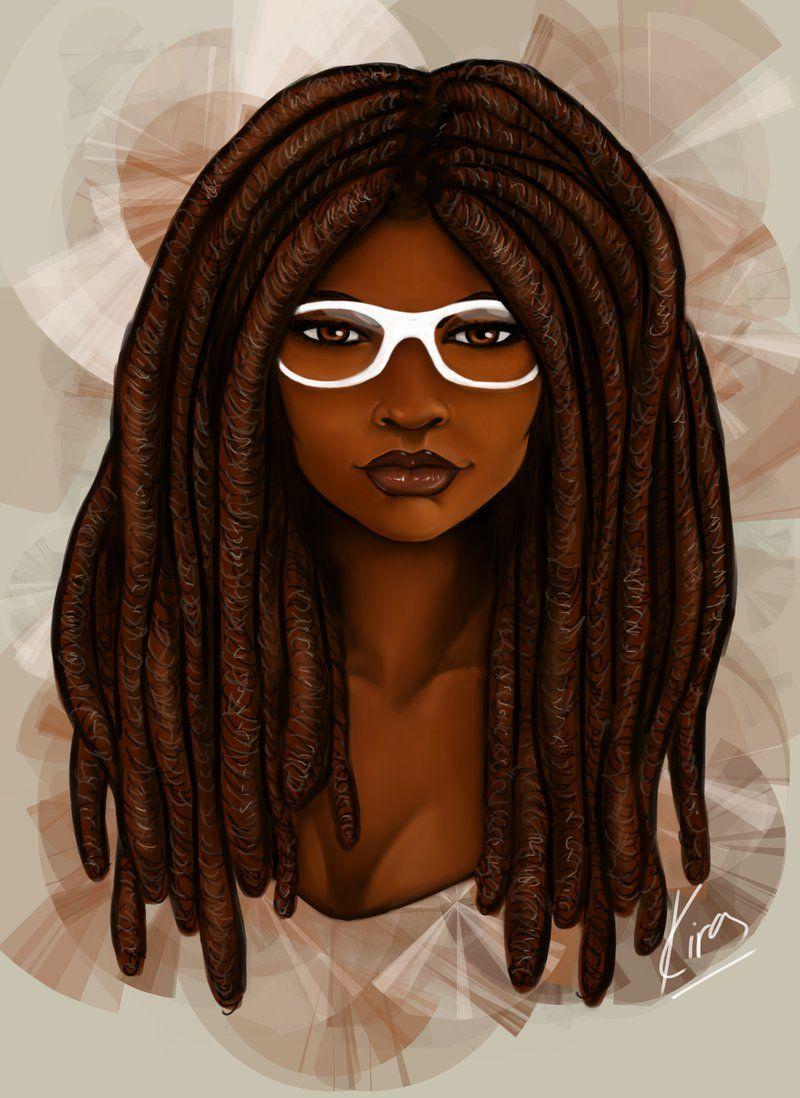 """fyblackwomenart: """"White Glasses by KiraTheArtist """""""