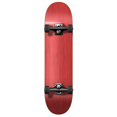 """Blank Complete Skateboard Stained RED 7.75"""" Skateboards, Ready to rideRed. BC77003 Red Bc77003 Yocaher Blank Stained Complete Skateboard Tags: Red. 7.75"""" Canadian Maple Skateboard Complete - Blank."""