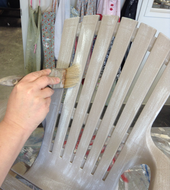 DIY: Painting A Plastic Outdoor Chair To Look Like Driftwood...Outdoor  Finish Part 44