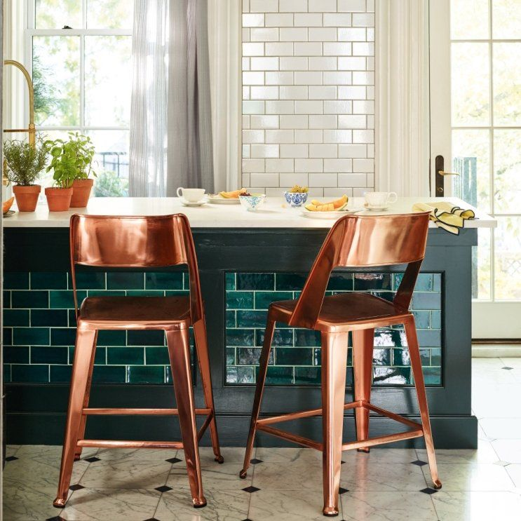 Copper Dining Chairs Make An Excellent Kitchen Brunch Spot Don T You Think