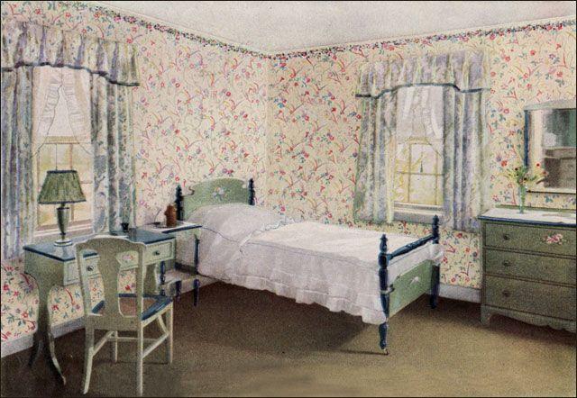 1925 Pastel Bedroom - 1920s Bedroom Design Inspiration