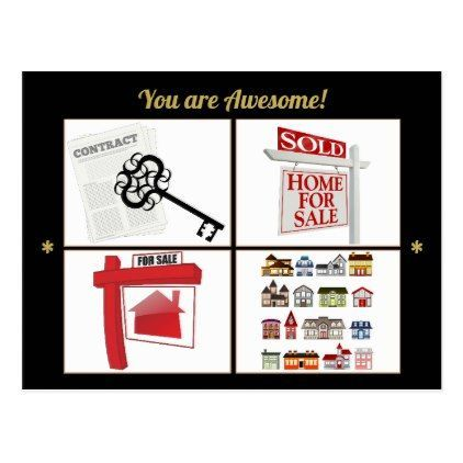 Custom Realtor and Real Estate Agent Thank You Postcard - realtor - realtor job description
