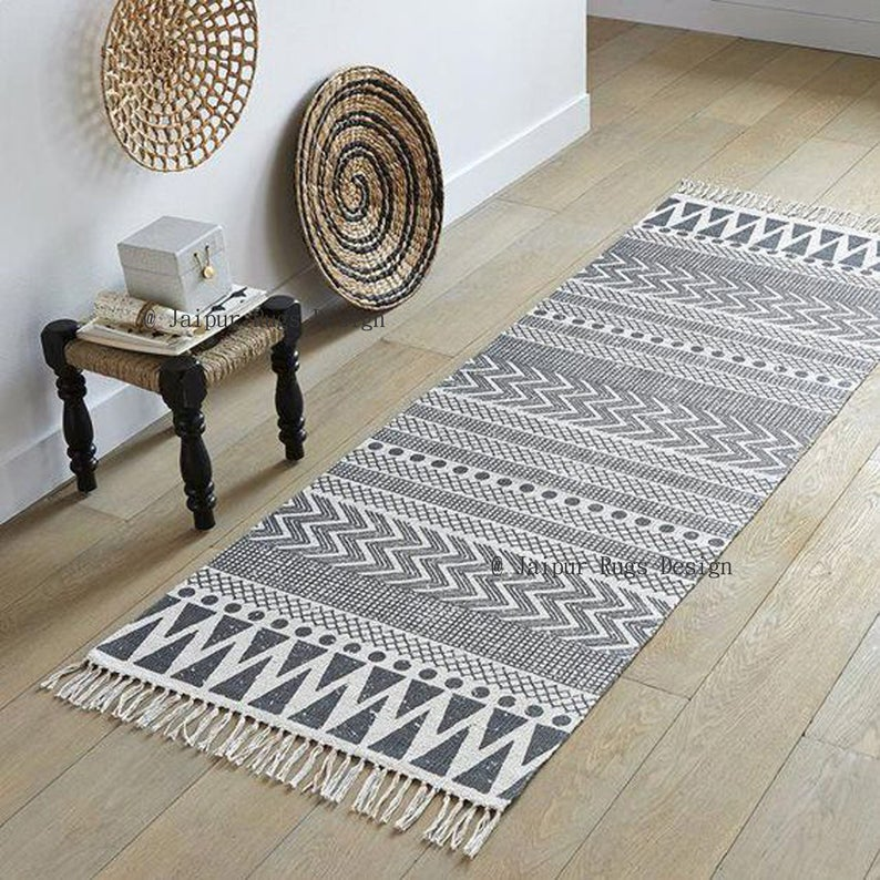 Area rug beautiful rug durable rug Handmade rug cotton carpet 3x5 feet cotton Rug