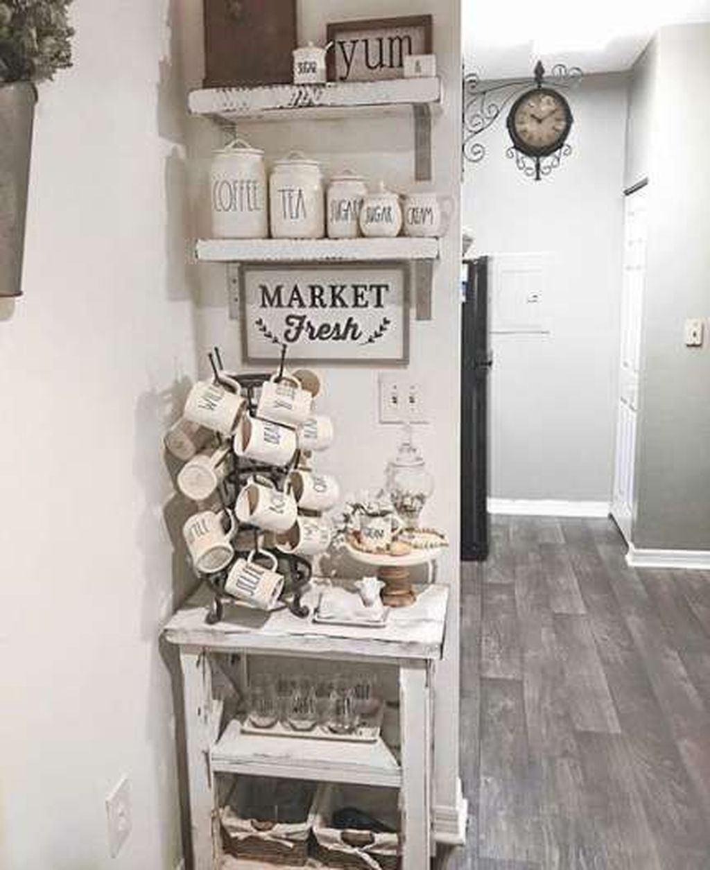 Must Have Farmhouse Kitchen Decor Ideas: 30+ Fantastic DIY Coffee Bar Ideas For Your Home In 2020