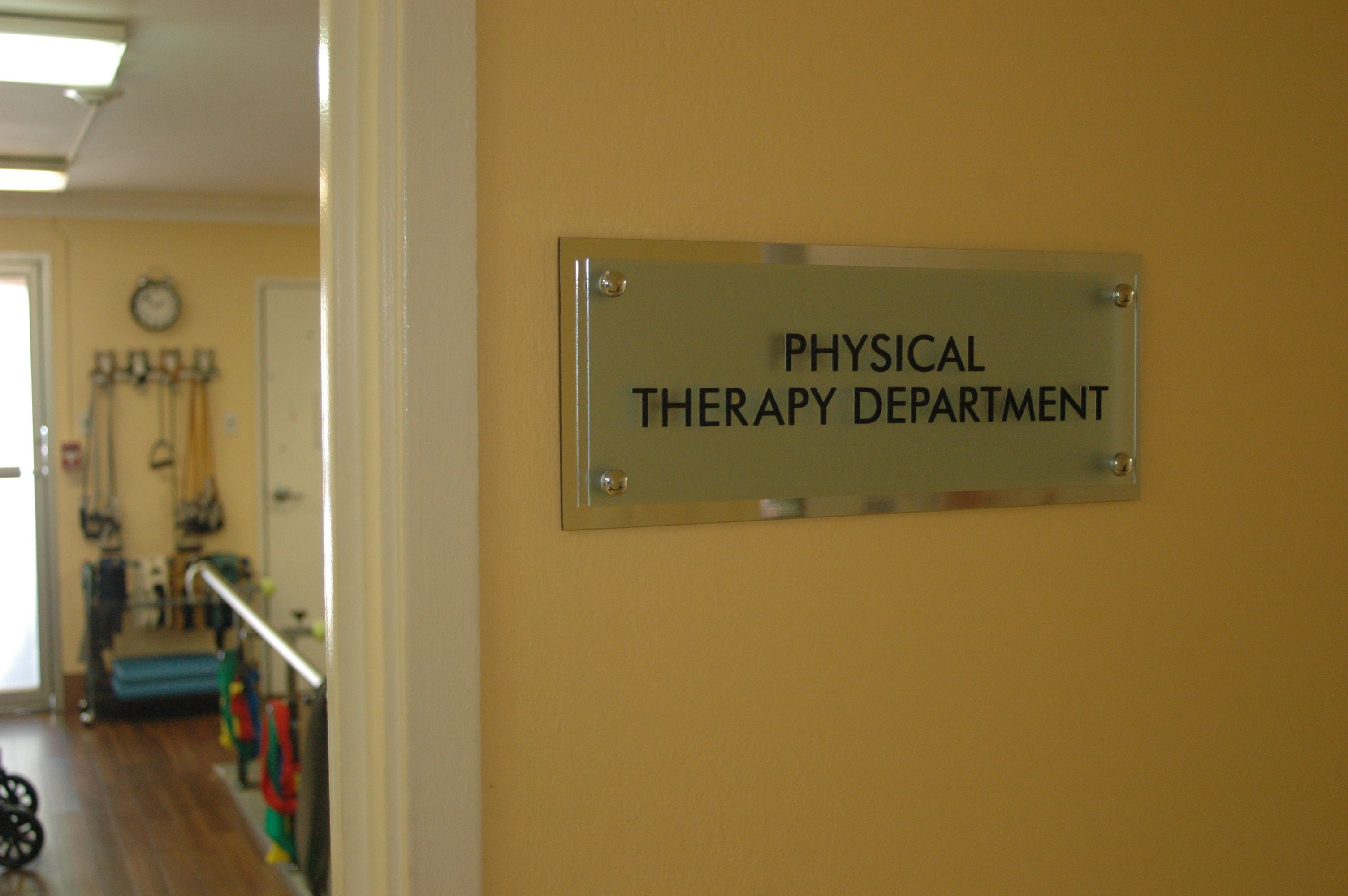 Physical therapy department home decor decals home