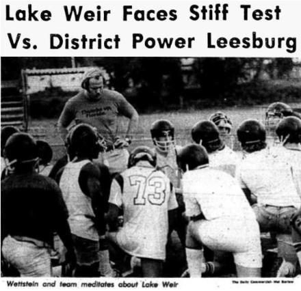 Wettstein and team meditates about Lake Weir