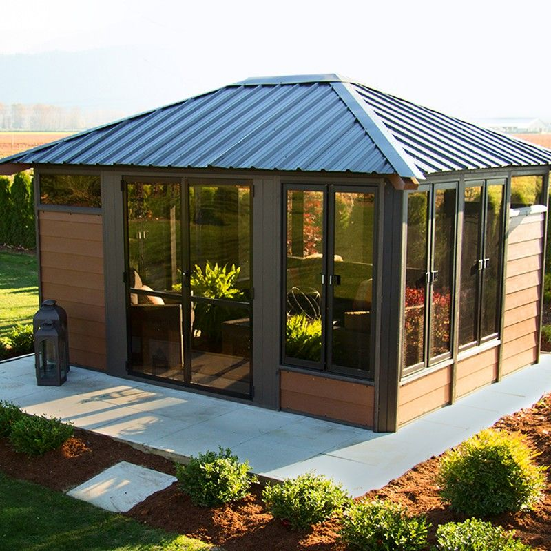 Barcelona 11 X 14 Gazebo In 2020 Backyard Gazebo Hot Tub Gazebo