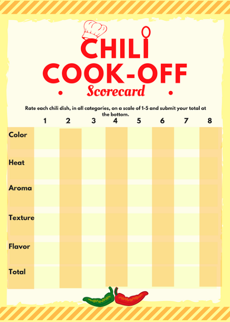Chili Cook Off Free Printables Invite Scorecard Award Certificate And Crock Pot Tags Food Chili Chilicookoff S Cook Off Chili Cook Off Chili Contest