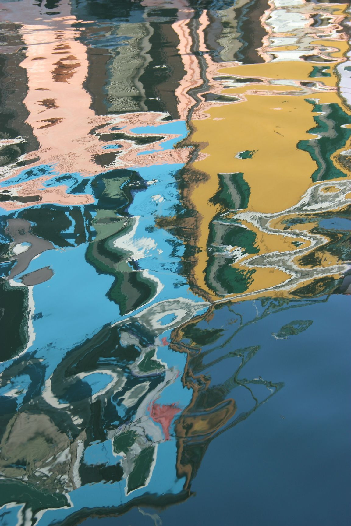 Burano Riflessi Water Photography Water Reflections Water Painting