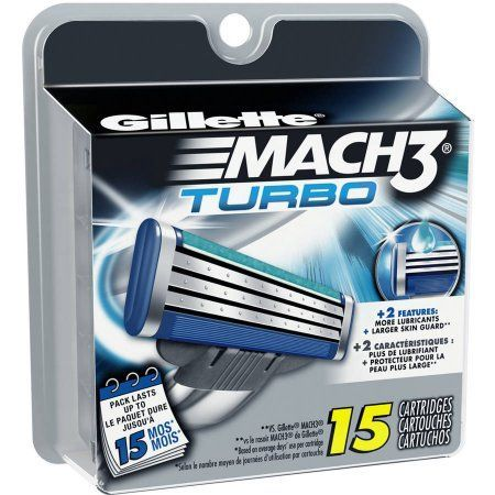Gillette Mach3 Turbo Razor Cartridges, 15 count | Products