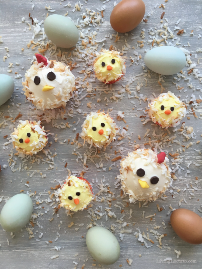 Cute Chicken And Baby Chick Cupcakes Adorable Chicken Birthday Cake