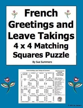 French greetings leave takings and courtesies matching squares french greetings leave takings and courtesies matching squares puzzle m4hsunfo