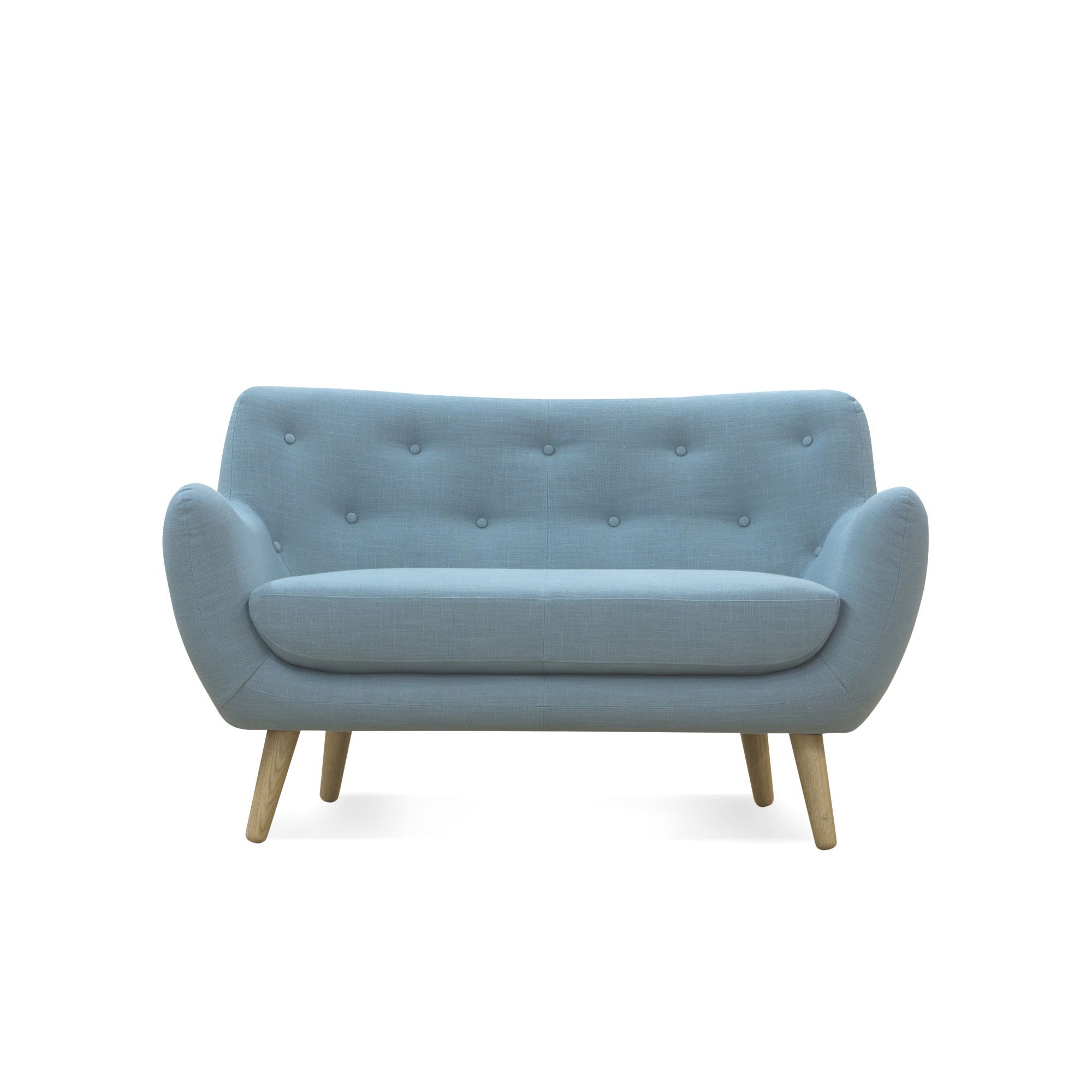 Poppy Meuble Canapé Places Fixe Esprit Scandinave Bleu Salons - Formation decorateur interieur avec canapé chesterfield pas cher