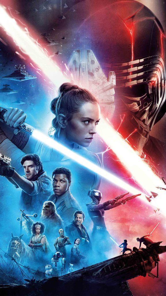 Star Wars The Rise Of Skywalker 2019 Poster Star Wars Background Star Wars Poster Star Wars Wallpaper Iphone