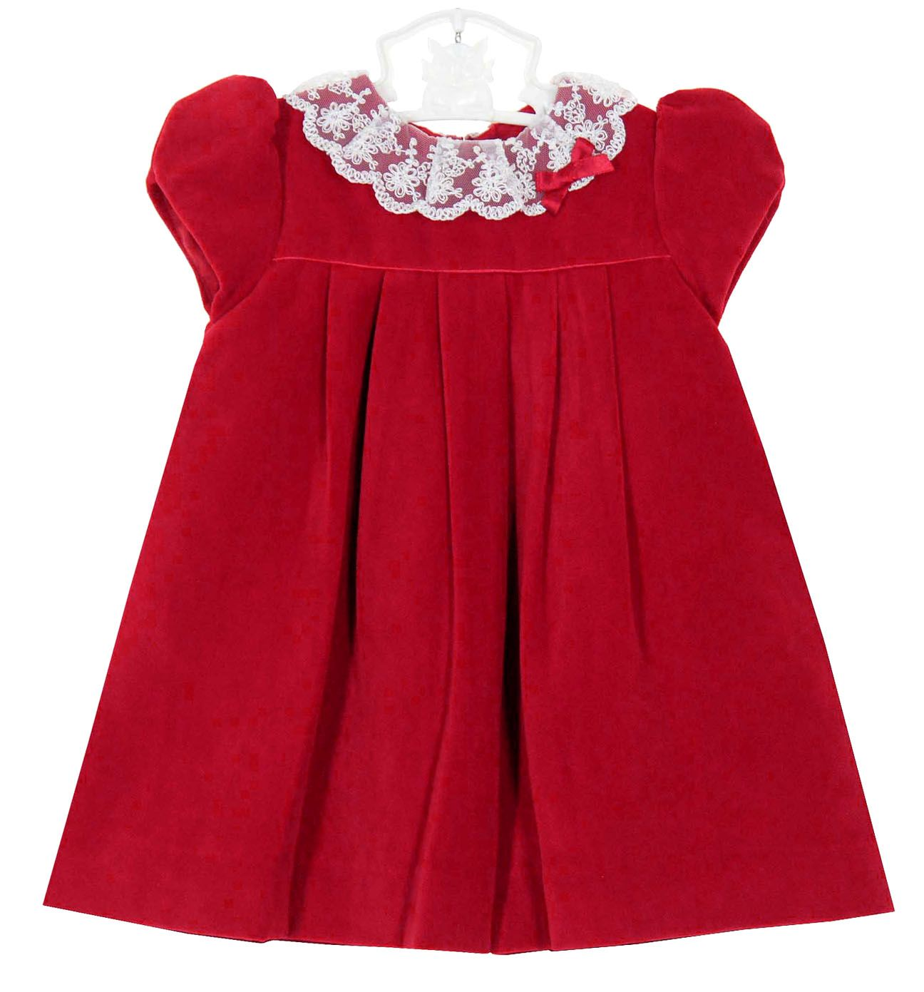 41707ba0cff NEW Sarah Louise Red Velvet Dress with Delicate Lace Collar  105.00 ...