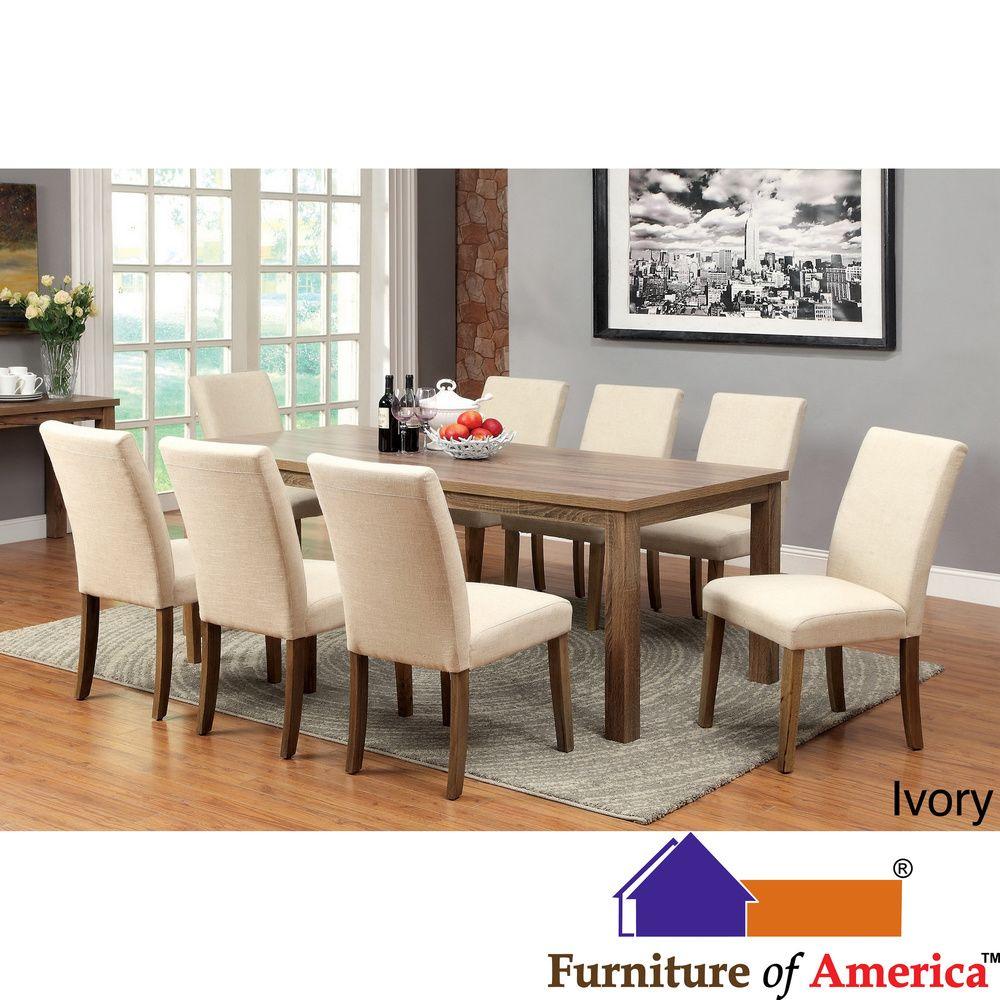 Furniture Of America Sorine 9 Piece Light Oak Dining Set By  # Muebles Peaje Hudson