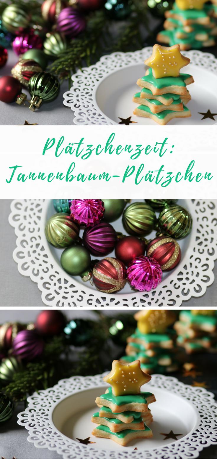 Tannenbaum-Plätzchen | Plätzchen rezept, Zum verschenken und Auf der ...