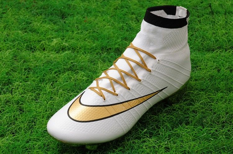 Save 50% Off - Nike 2016 Mercurial Superfly FG Gold Studs cleats