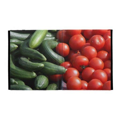 Vegetables iPad folio case