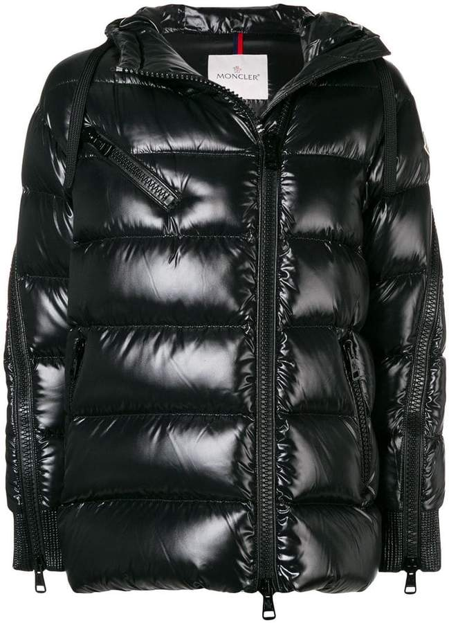 0166feed5 Moncler zipped sleeves puffer jacket
