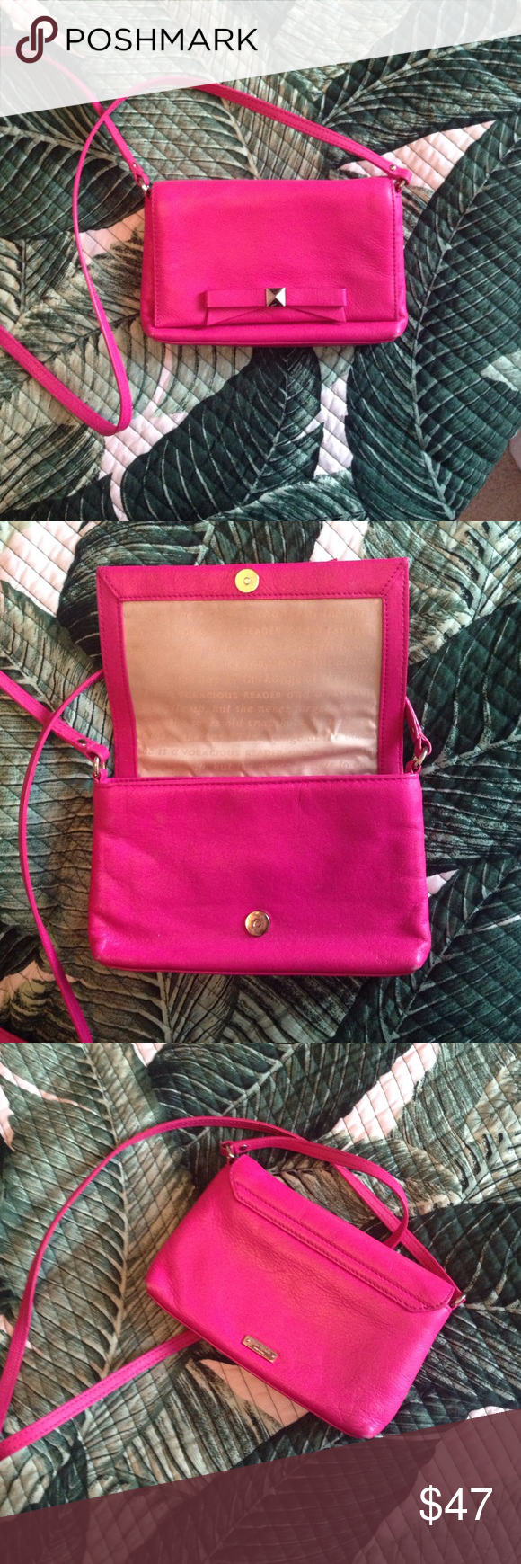 Pink Kate Spade New York Mini Bag Lightly used Kate Spade New York purse. Slight fading on corners. Perfect for nights out! 💕 kate spade Bags Mini Bags