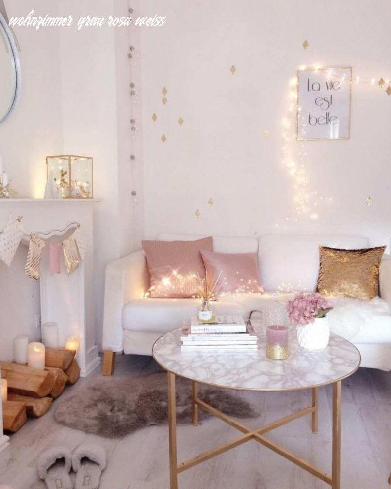 Wohnzimmer Grau Weiß Rosa