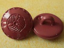 10 kleine weinrote Knöpfe 12mm (4155-4) Knopf rot