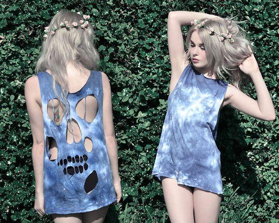 Summer tie dye (by Rosaliee W) http://lookbook.nu/look/3818307-Summer-tie-dye