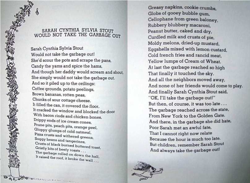 The Message After The Beep Sarah Cynthia Sylvia Stout Would Not Take The Shel Silverstein Poems Silverstein Poems Poetry For Kids
