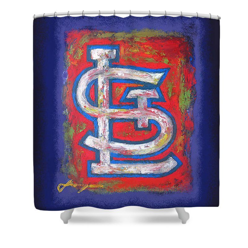 St Louis Cardinals Baseball Shower Curtain For Sale By Dan Haraga