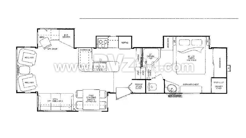 5th Wheel Floor Plans With Rear Kitchen