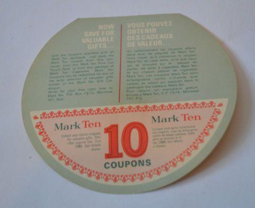 Mark ten coupons