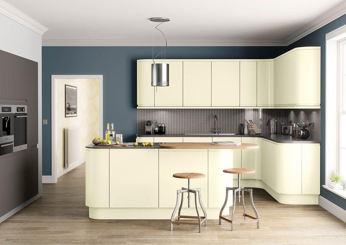 Lucente Matt Handleless kitchen, Contemporary kitchen