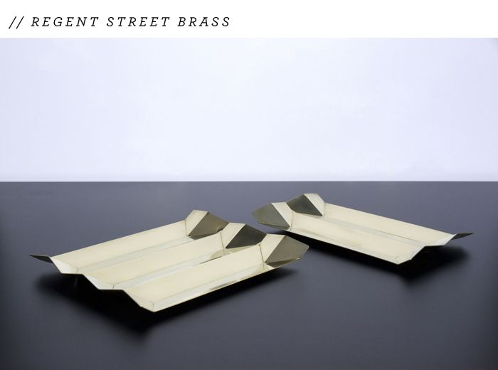 Brass Tray From New Nz Designer Regent Streetfrom Fancy Nz Design Blog Brass Tray Brass Design