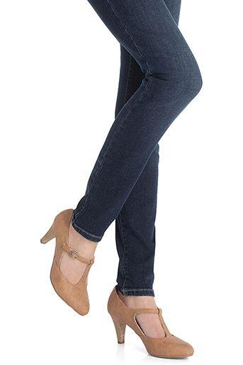 Esprit T-bar court shoe