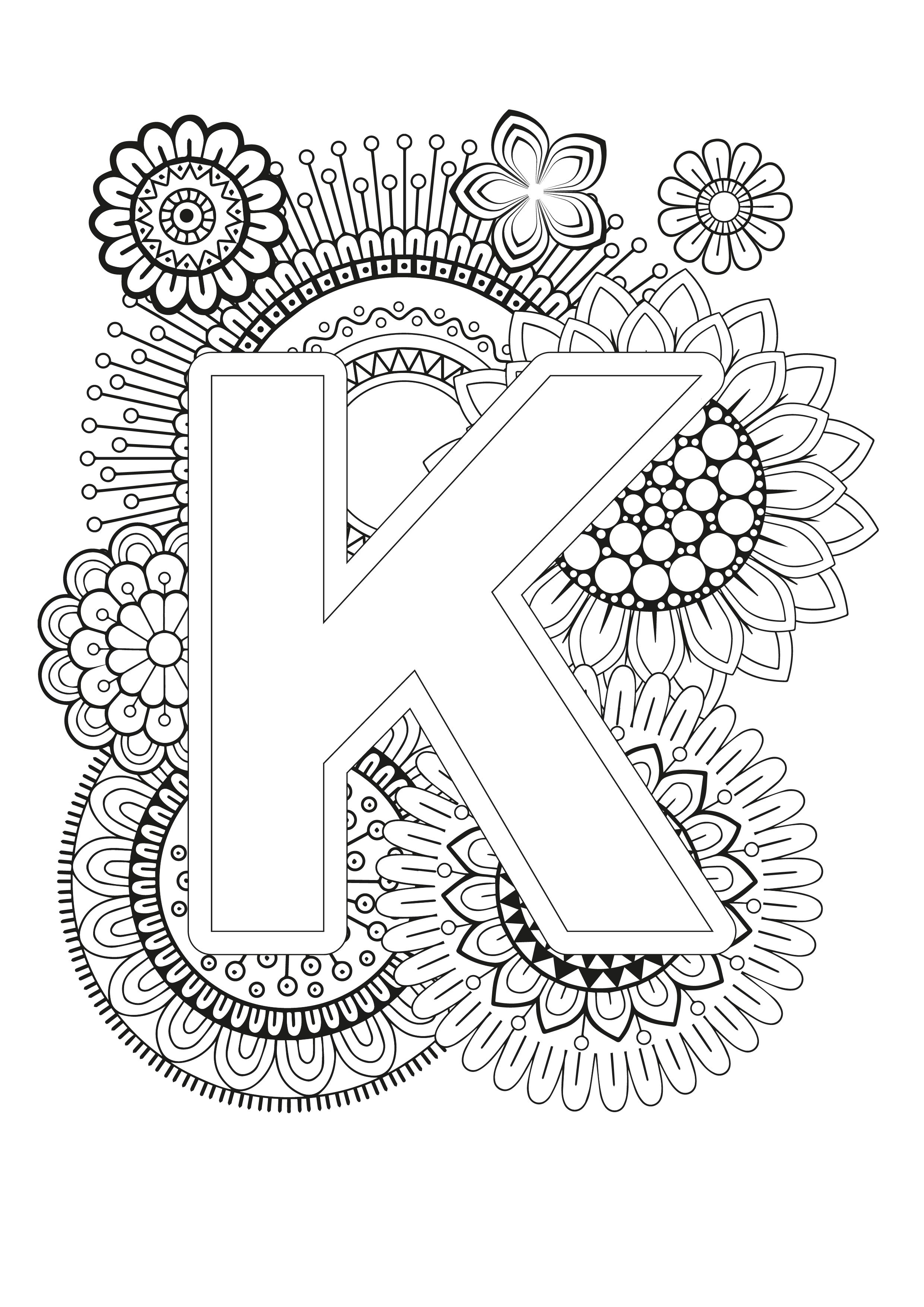 Mindfulness Coloring Page Alphabet Letter A Coloring Pages