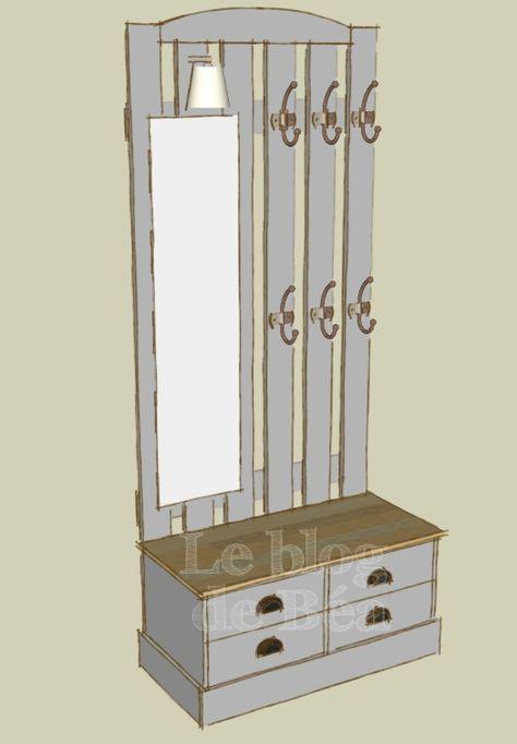 DIY vestiaire d\u0027entrée en bois de palettes et médium - Le blog de