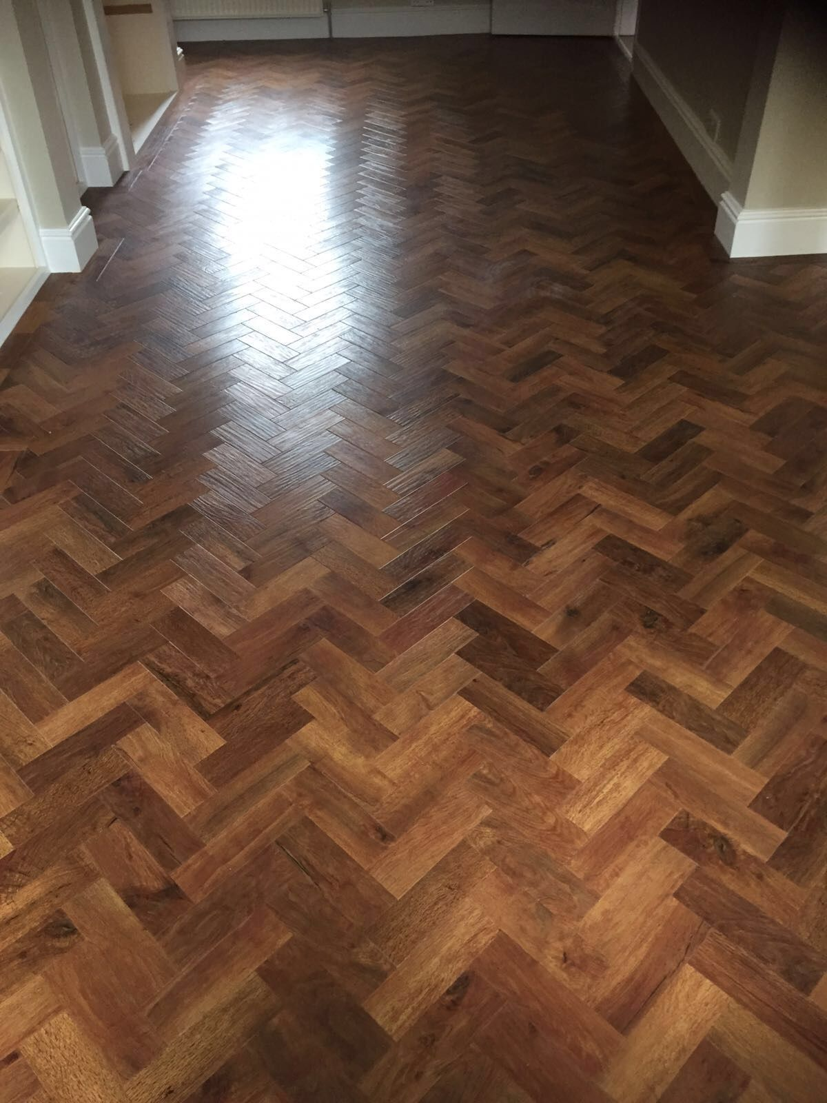 Karndean Art Select Auburn Oak Parquet Flooring Fitted By