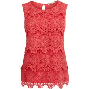 5653e1496a201b Coral & Cream   My Style   Shell tops, Fashion, Tops
