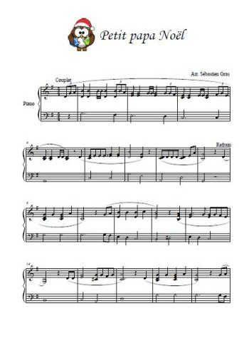 Petit Papa Noël Pour Piano Partition Gratuite Partitions Piano