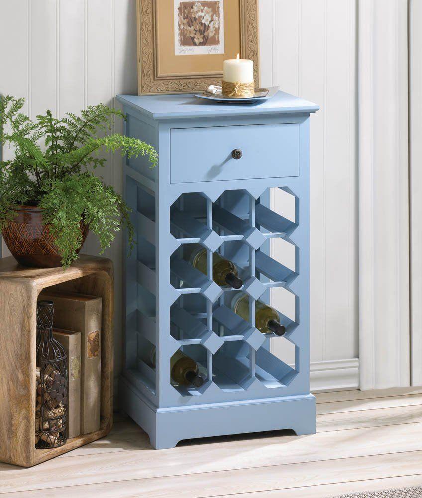 Somerset Blue Wine Cabinet. Decorative \