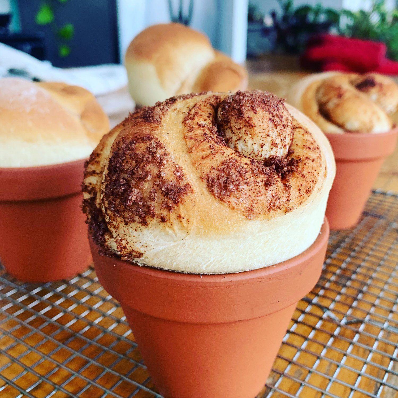 CinnamonSwirl Flower Pot Bread Cinnamon swirl, Sweet