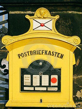 German Mailbox Briefkasten Vintage Mailbox Mailbox