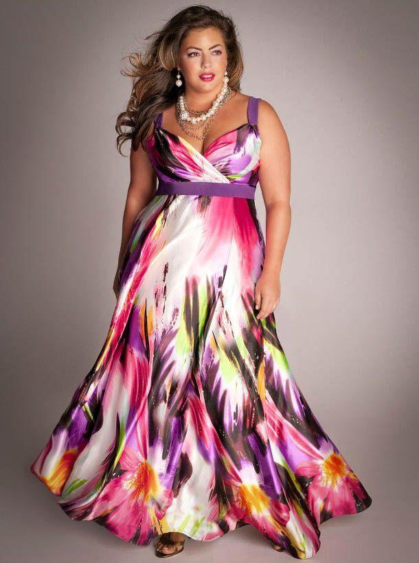 Летние платья и сарафаны больших размеров (117 фото ...
