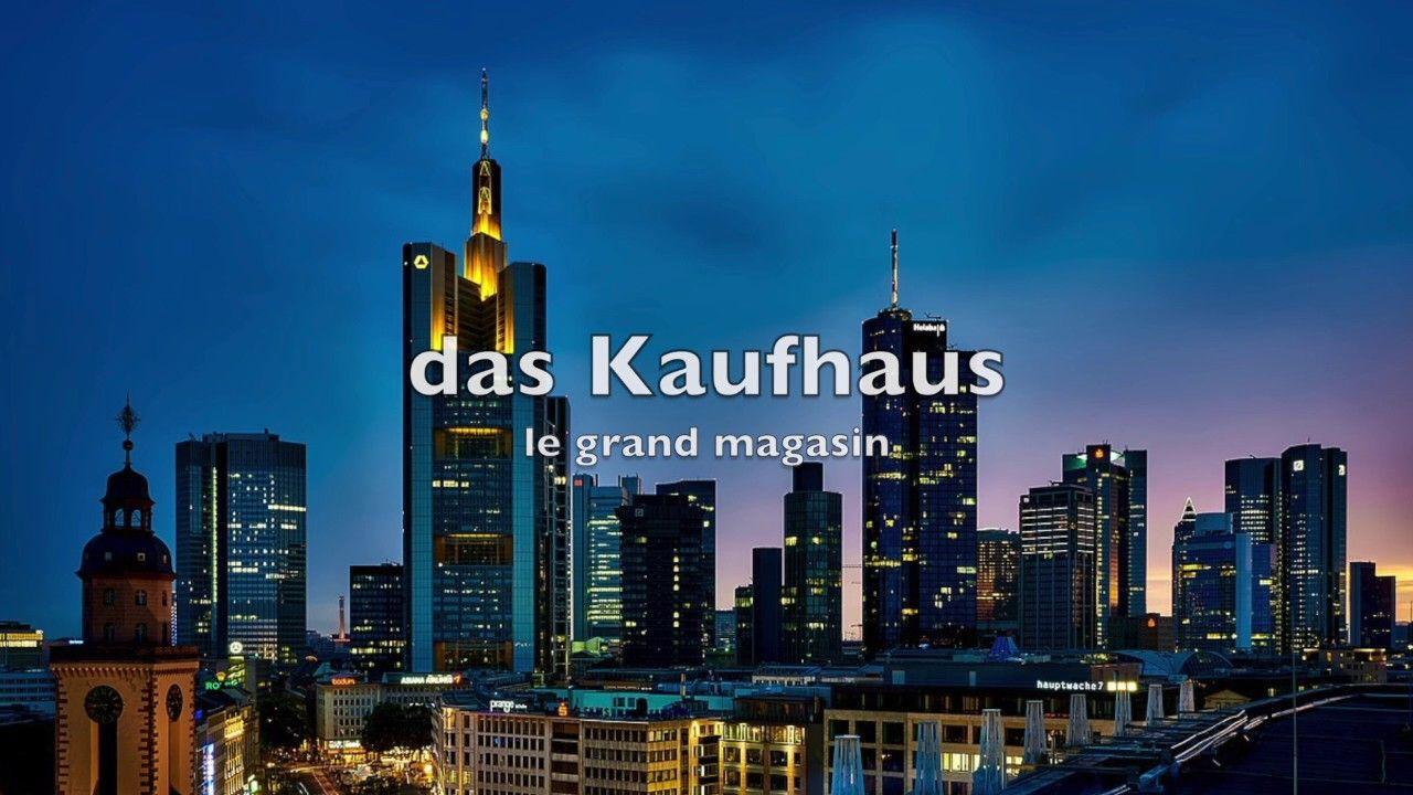 Du vocabulaire allemand bien utile en ville YouTube