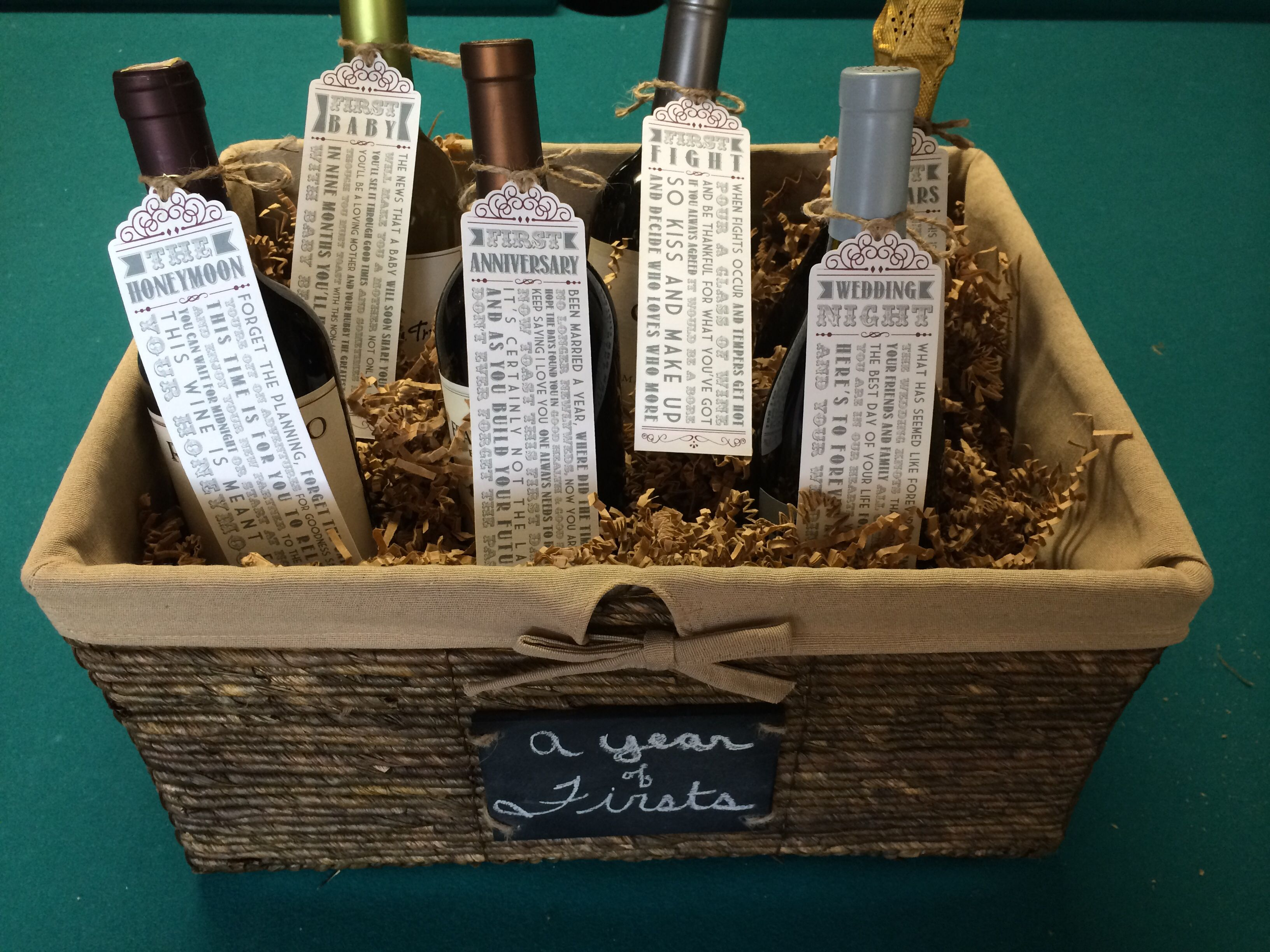 Wedding Wine Gift Basket: Fill Up A Basket With Different Flavors Of Mix Party
