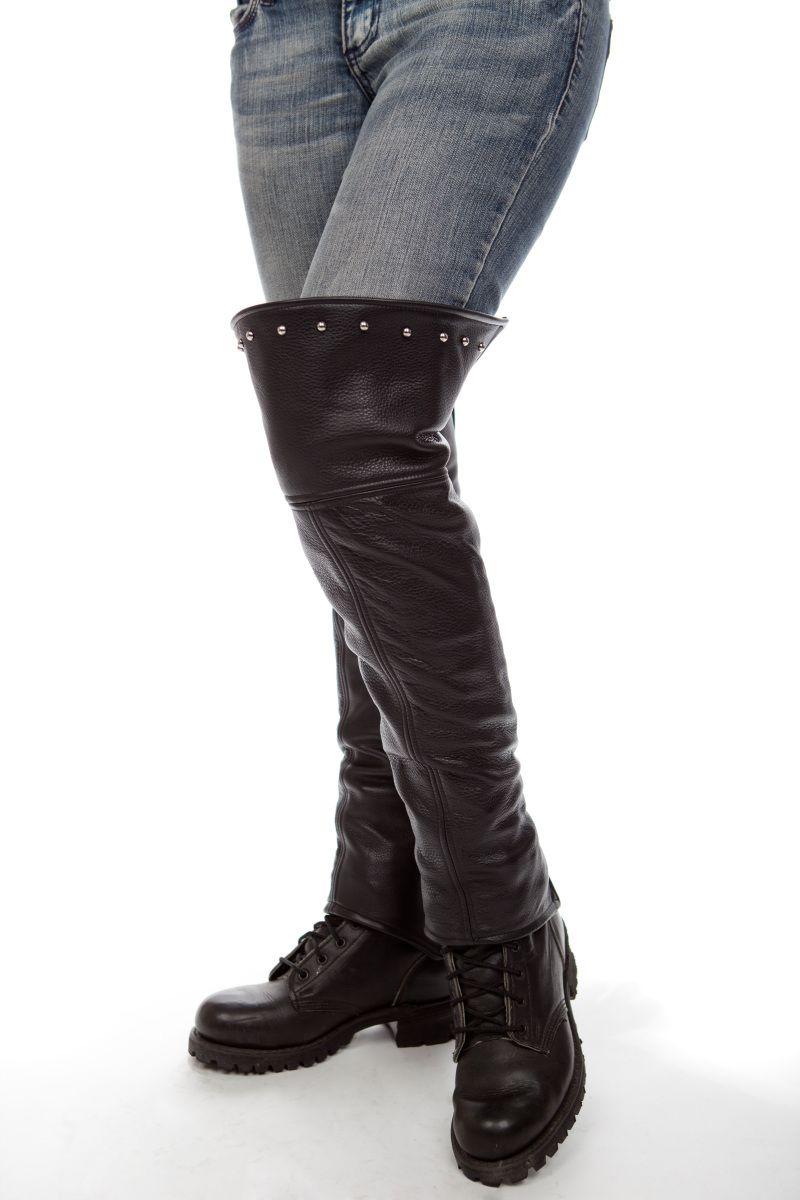80e665a4e44 Studded! Thigh High Half Chaps | HARLEY D / Riding Misc | Biker wear ...